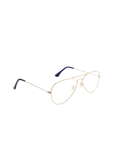 Ted Smith Unisex Gold-Toned Solid Full Rim Aviator Frames TS-252_C4