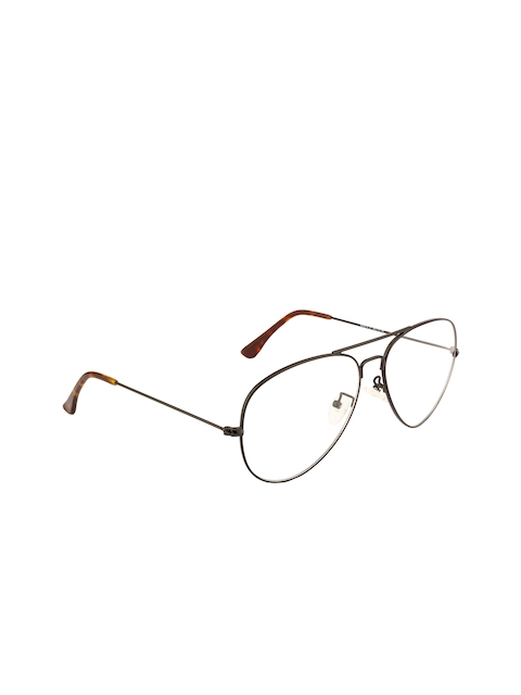 Ted Smith Unisex Black Solid Full Rim Aviator Frames