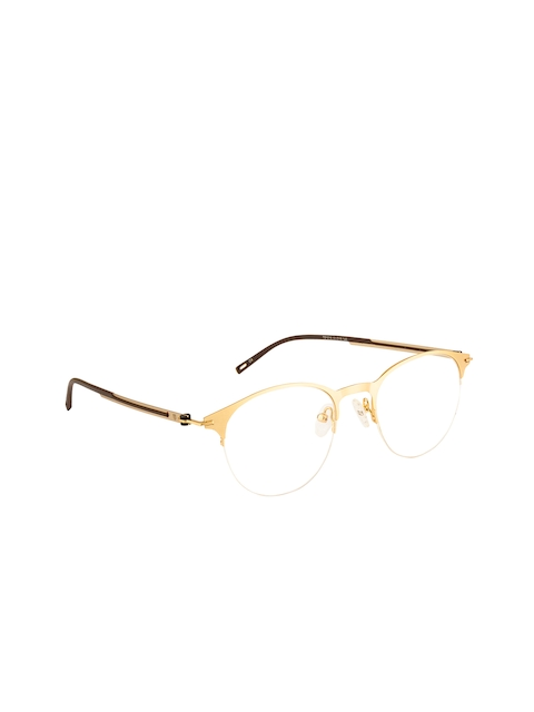 Ted Smith Unisex Gold-Toned Solid Half Rim Round Frames TS-248_C4