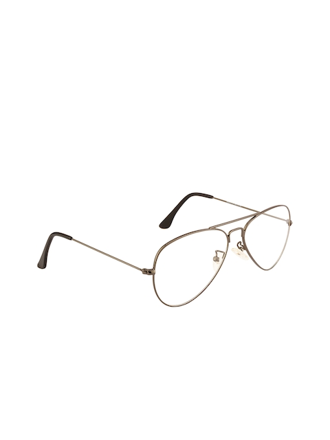 Ted Smith Unisex Transparent Solid Full Rim Aviator Frames