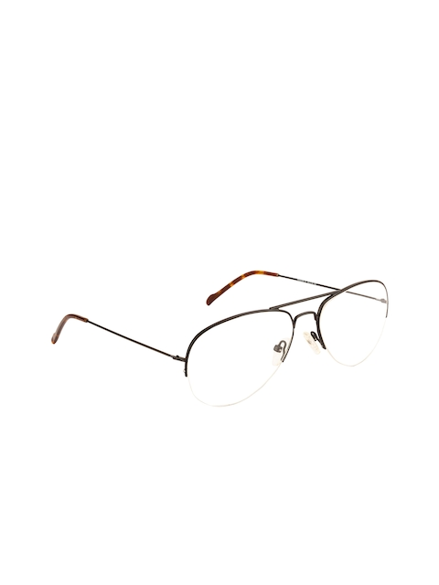 Ted Smith Unisex Transparent Solid Half Rim Aviator Frames TS-251_C1