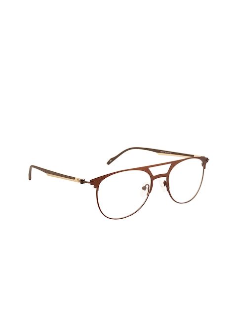 Ted Smith Unisex Brown Solid Full Rim Aviator Frames TS-249_C5