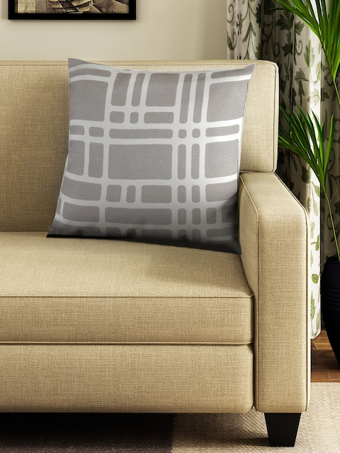 BOMBAY DYEING Unisex Brown & Grey Square Floor Cushions