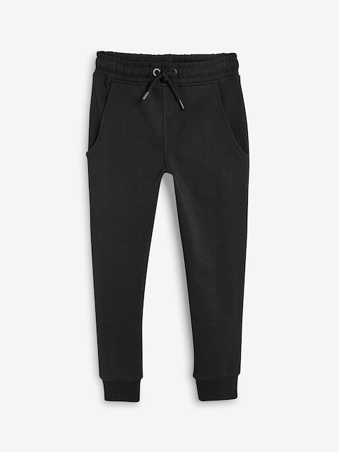 next Girls Black Solid Slim-Fit Joggers