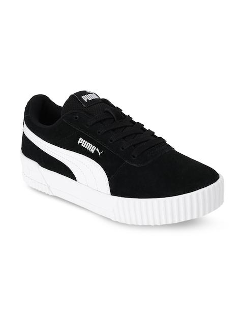 Puma Girls Black Carina Jr Sneakers