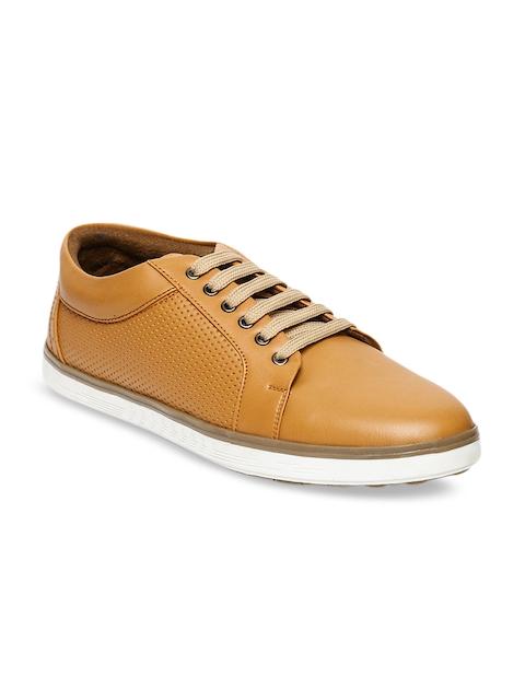 Blue Saint Men Tan Brown Sneakers