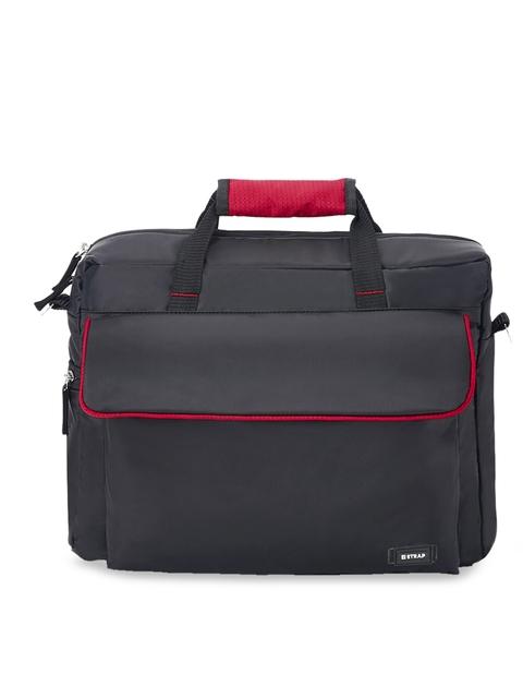 2 STRAP Unisex Black Solid Messenger Bag