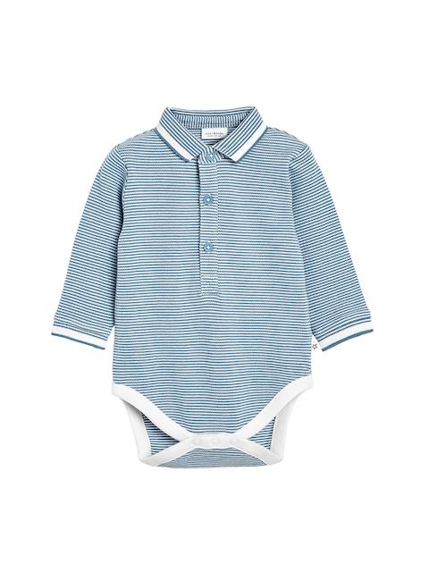 next Boys Blue Striped Bodysuit