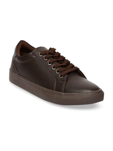 Blue Saint Men Brown Sneakers