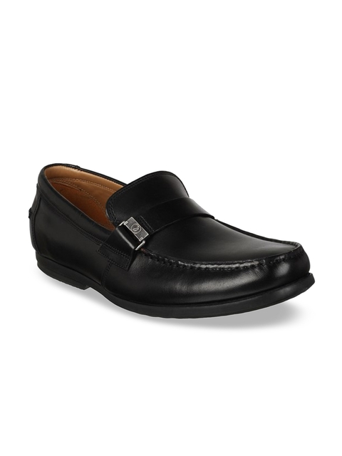 Clarks Men Black Leather Loafers
