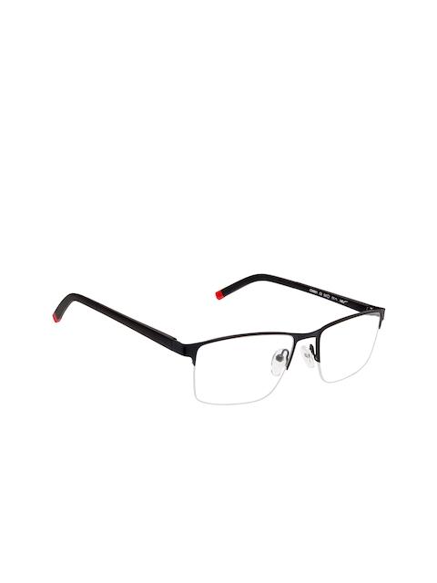 Cardon Unisex Black Solid Half Rim Rectangle Frames EWCD2135RTR6001C3