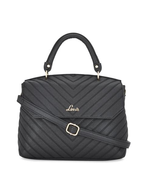 Lavie Women Black Textured Handheld Bag