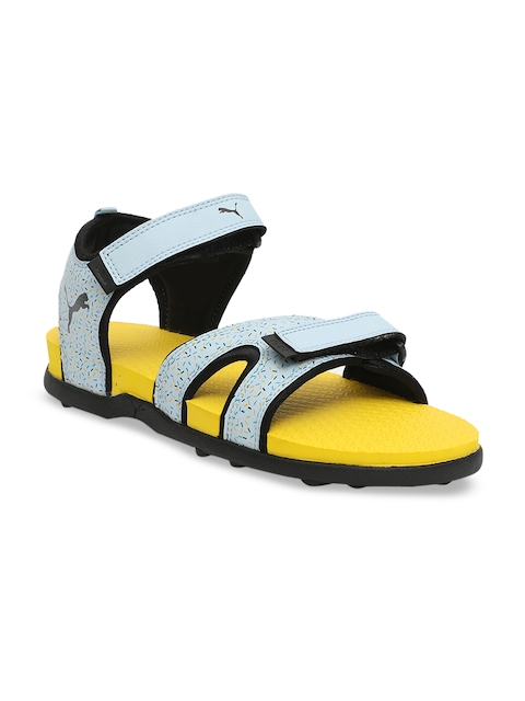 Puma Unisex Blue Printed Sports Sandals