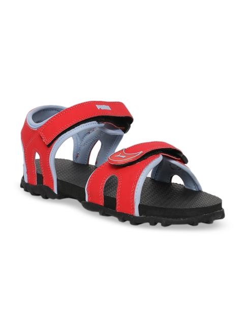 Puma Unisex Red & Black Track Jr DP Sports Sandals