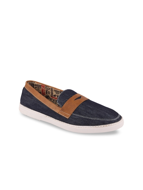 FAUSTO Men Blue Loafers
