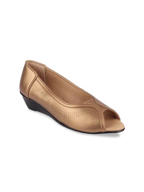 FAUSTO Women Copper-Toned Mojaris