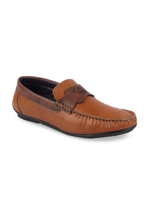 FAUSTO Men Tan Brown Loafers