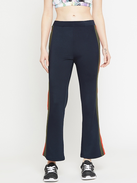 PERFKT-U Women Navy Blue Solid Track Pant