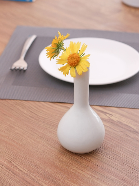 Clay Craft Set Of 2 Solid Ceramic Flower Vases