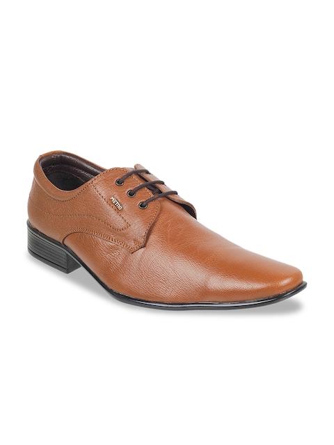 Metro Men Tan Formal Shoes