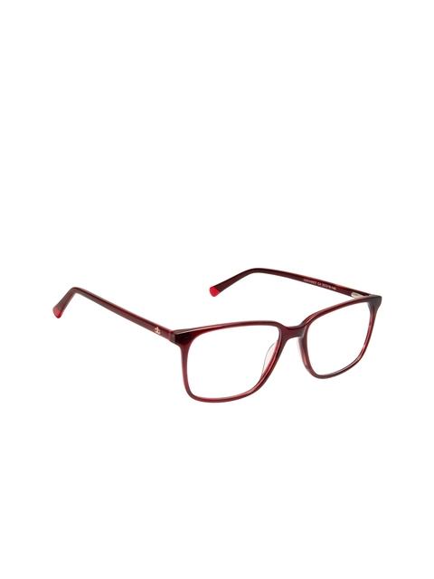 David Blake Unisex Red Solid Full Rim Wayfarer Frames