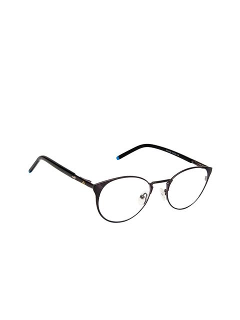 David Blake Unisex Black Solid Full Rim Oval Frames EWDB1662