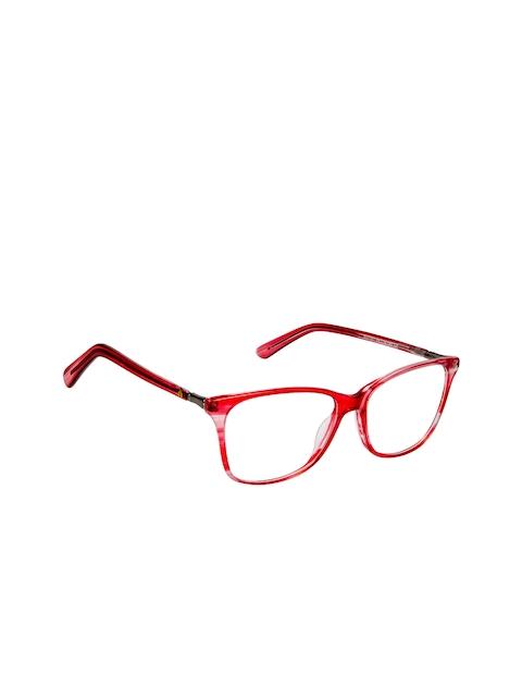 David Blake Women Red Abstract Full Rim Cateye Frames EWDB1669