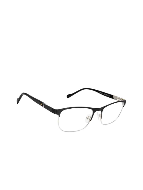 David Blake Unisex Black Solid Full Rim Rectangle Frames EWDB1674