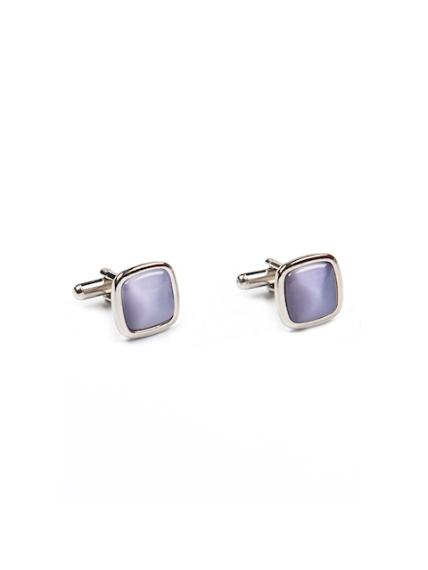Tossido Purple Square Embellished Cufflinks