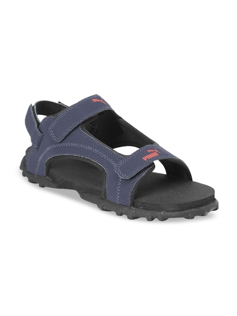 Puma Unisex Navy Blue & Black Range IDP Sports Sandals