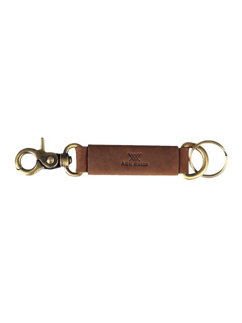 Aditi Wasan Unisex Brown Solid Genuine Leather Key Chain