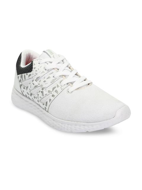 Yuuki Men White Mesh Mid-Top Training or Gym Shoes