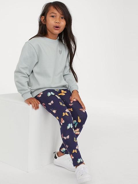 H&M Girls Blue Printed Treggings