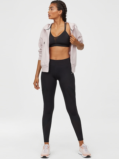 H&M Women Sports Tights With Mesh