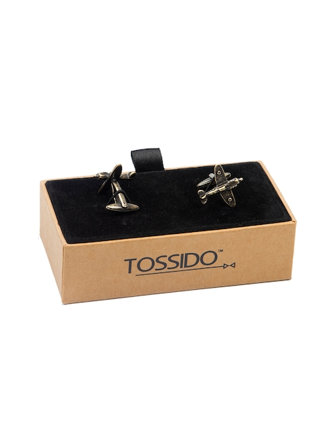 Tossido Gold-Toned Quirky Cufflinks