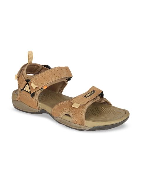 Sparx Men Camel Brown Comfort Sandals