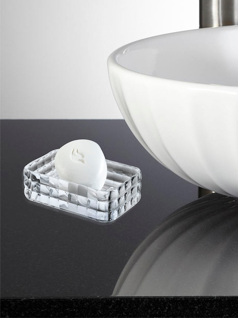 OBSESSIONS Transparent Glass Soap Dish