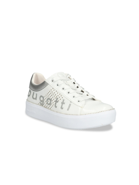 Bugatti Women White Sneakers