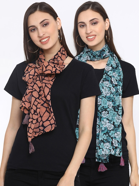 Azira Pack Of 2 Printed Scarves
