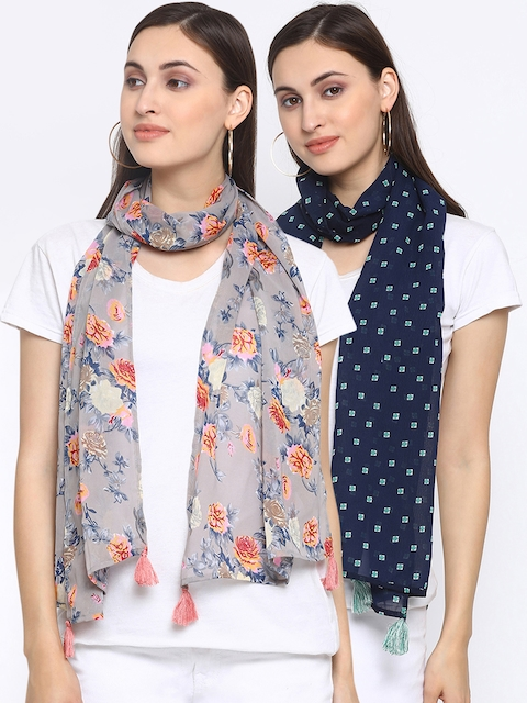 Azira Women Pack of 2 Printed Stoles