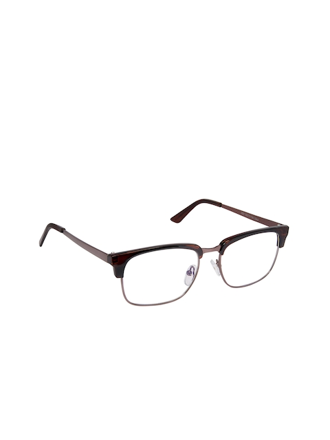 Cardon Unisex Brown Solid Full Rim Browline Frames