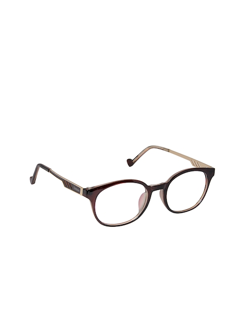 Cardon Unisex Brown Solid Full Rim Round Frames NEWCD1236