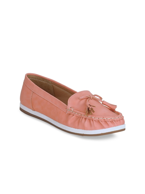 Get Glamr Women Pink Tasselled Loafers