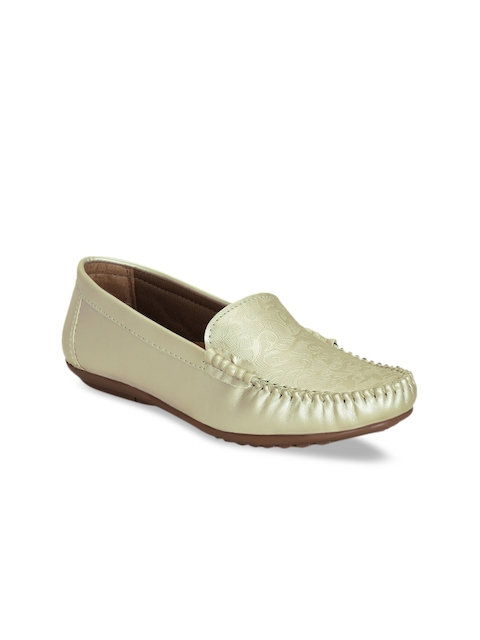 Get Glamr Women Gold-Toned Loafers