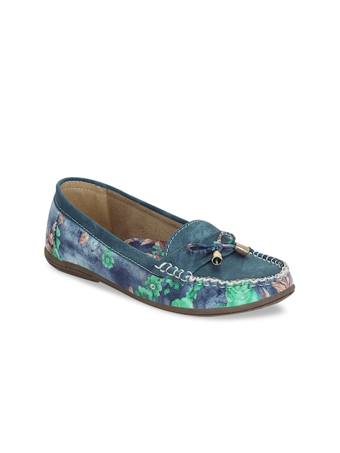 Get Glamr Women Blue Loafers