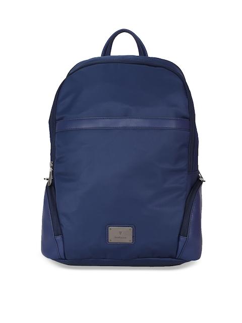 Van Heusen Woman Women Navy Blue Solid Backpack