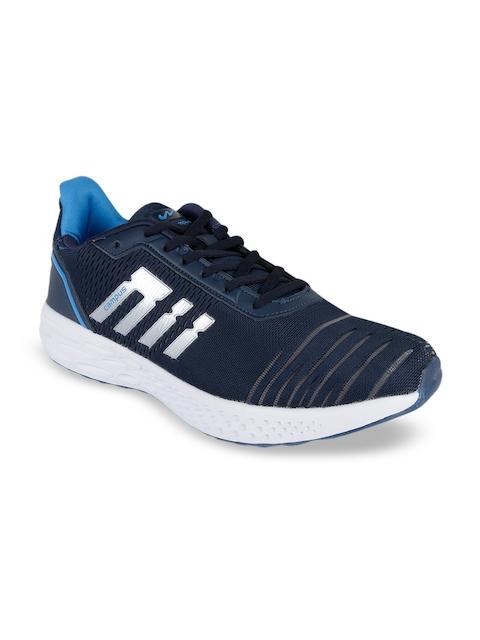 Campus Men Navy Blue & Blue Mesh Running Shoes