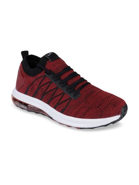 Campus Men Red & Black Mesh Running Shoes