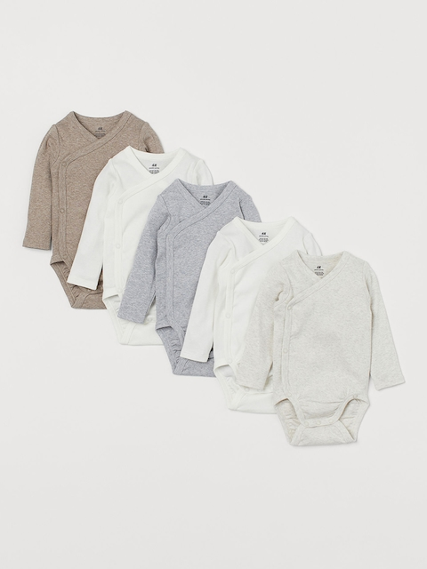 H&M Kids 5-Pack Wrapover Bodysuits