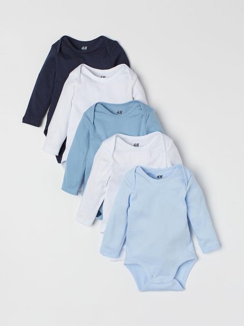 H&M Boys 5-Pack Bodysuits